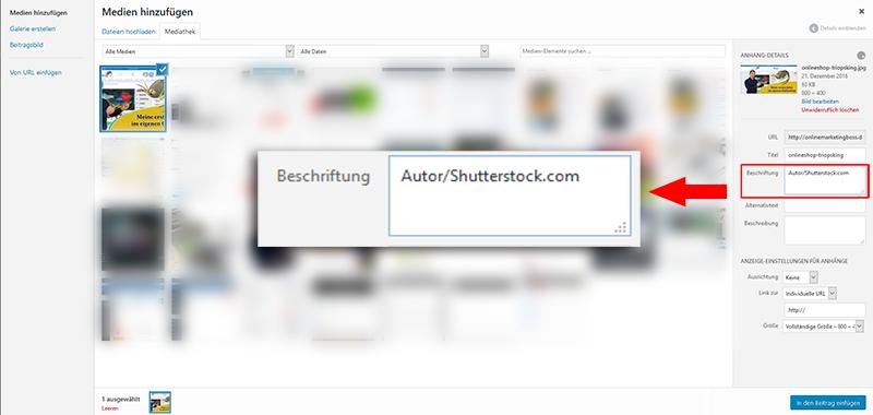 shutterstock copyright wordpressblog angeben