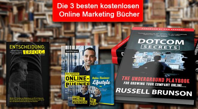 Die 3 besten kostenlosen Online Marketing Bücher