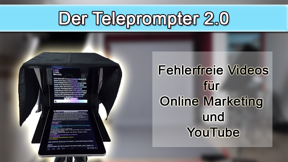 teleprompter für youtube und online-marketing