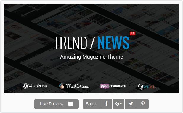 Trend wordpress theme