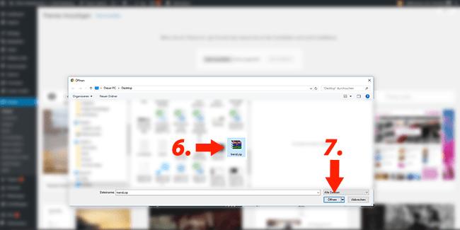 Wordpress Theme installieren einfach