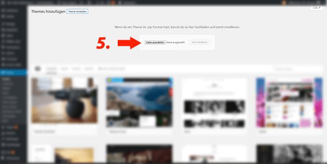 Wordpress Theme installieren fuer einsteiger