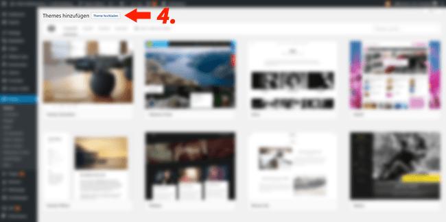 Wordpress Theme installieren schritt fuer schritt