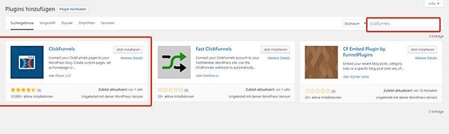 Clickfunnels in WordPress einfuegen